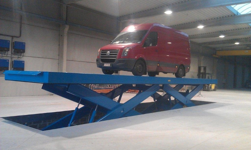 20 tonne low closed vehicle lift