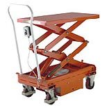 Battery electric mobile scissor lift tables