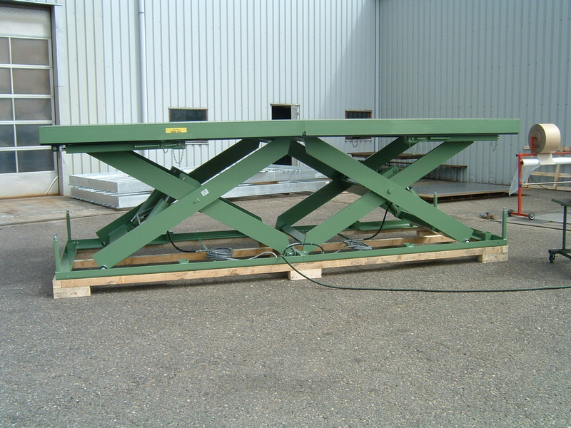 Double Horizontal lift table 5 tonnes