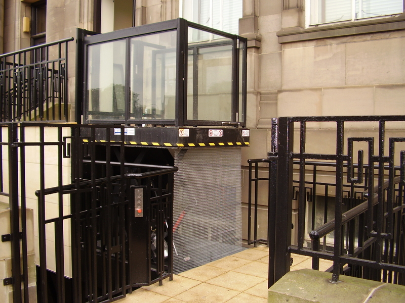 Externally installed disabled platform lift
