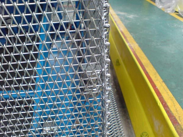 Flexible galvanised steel wire mesh curtain guarding