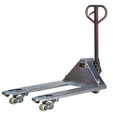 Galvanised and semi stainless steel pallet truck