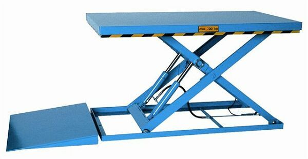 Low closed lift table for medium duty operation