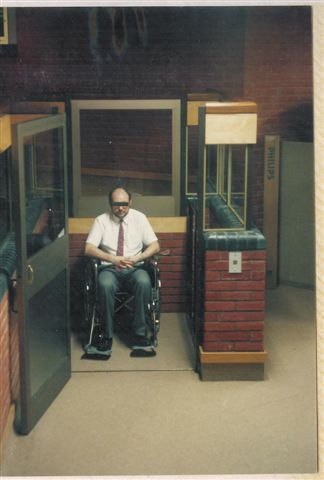 Mobility impaired wheelchair and goods lift