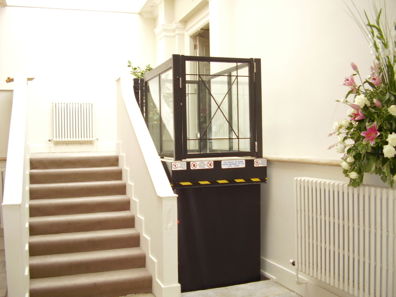 Powder coated wheelchair access lift