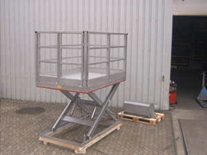 Stainless steel working platform for Off-Shore rig